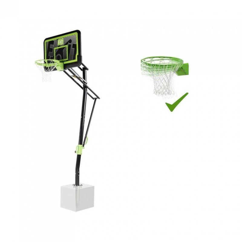 Basketbalový koš do země Exit Galaxy Black + Dunkring