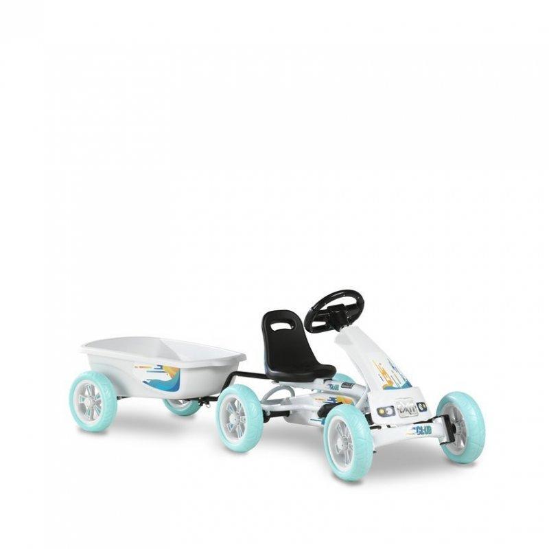 Šlapací kára Foxy Club + přívěsný vozík