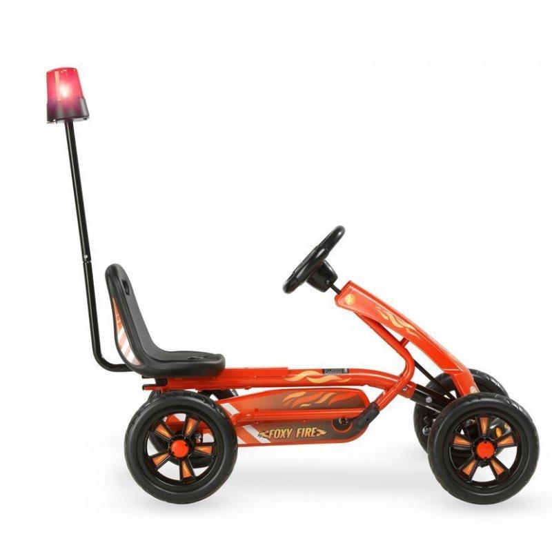 Šlapací kára Foxy Fire + přívěsný vozík