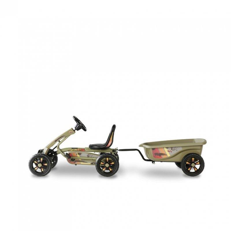Šlapací kára Foxy Expedition + přívěsný vozík