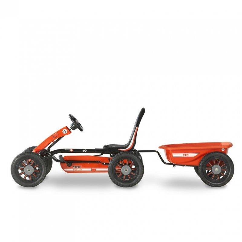 Šlapací kára Spider Race + přívěsný vozík