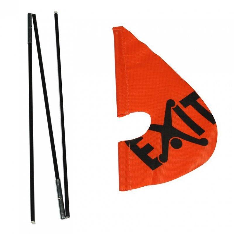 Bezpečnostní vlajka pro káry Foxy a Spider