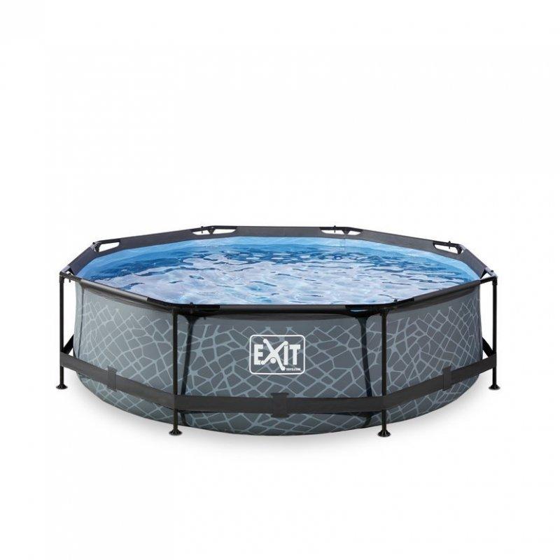 Bazén Exit ø 300 x 76 cm s filtrací - barva šedý kámen