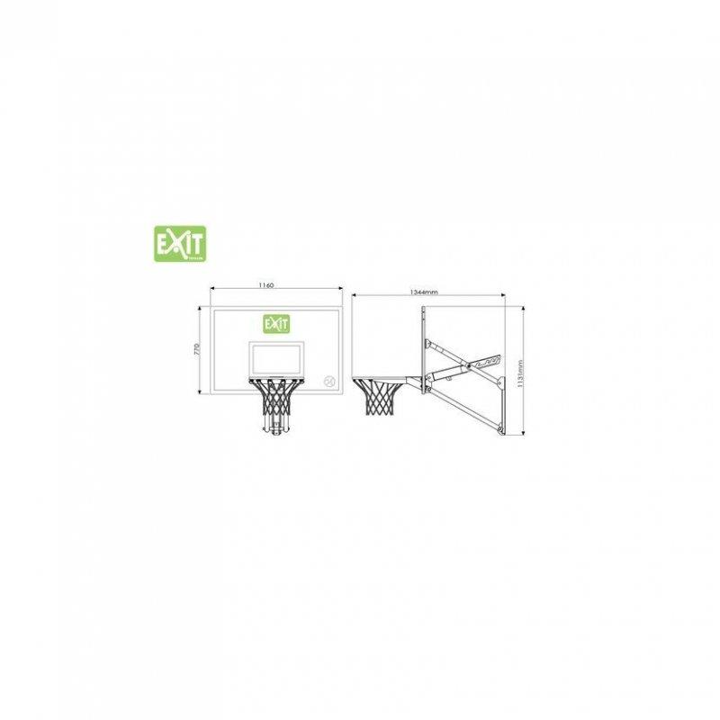 Basketbalový koš nástěnný Exit Galaxy + Dunkring