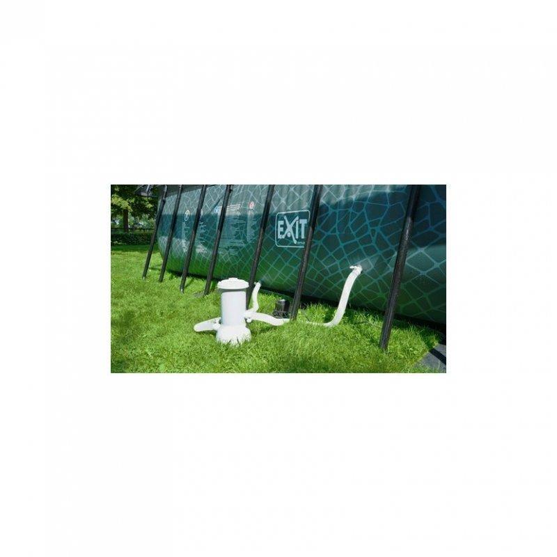 Bazén Exit 540 x 250 x 122 cm s pískovou filtrací a krytem - barva černá, kůže