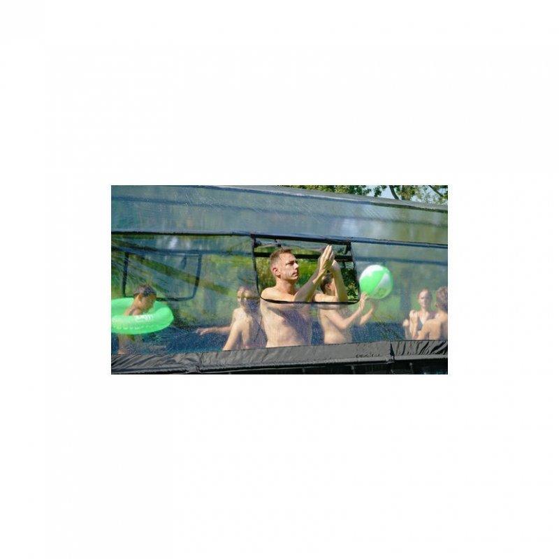 Bazén Exit 540 x 250 x 122 cm s pískovou filtrací a krytem - barva šedá, kámen