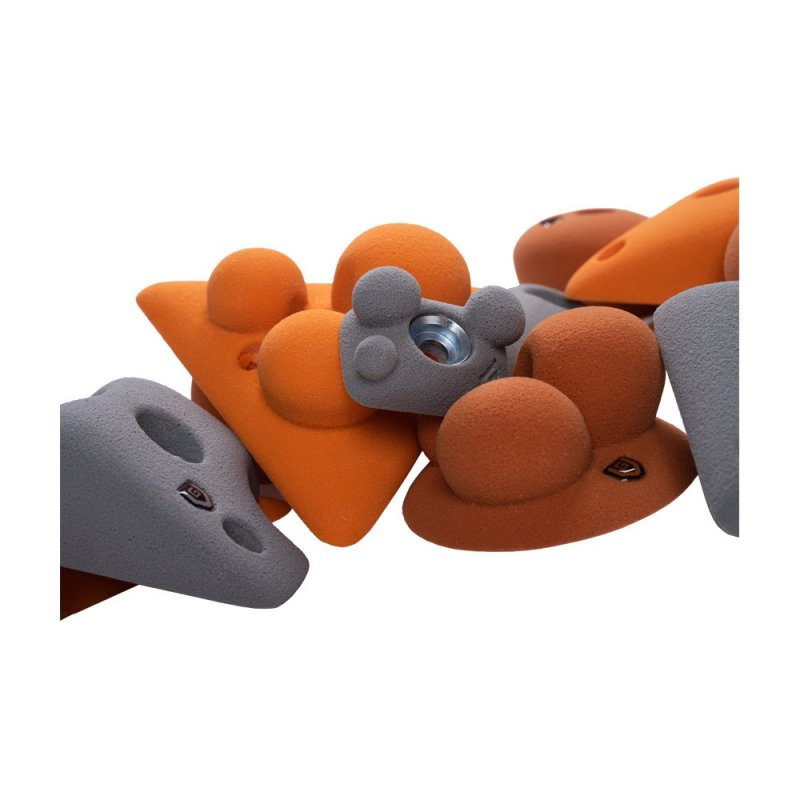 BLOCKids – venkovní extra sada oranžových lezeckých chytů
