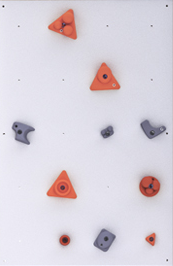 BLOCKids vnitřní stěna na lezení - samostatná deska obdélník bílý