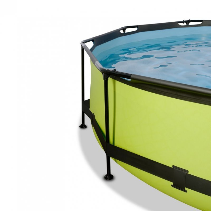 Bazén Exit ø 360 x 76 cm s filtrací a krytem - barva limetková
