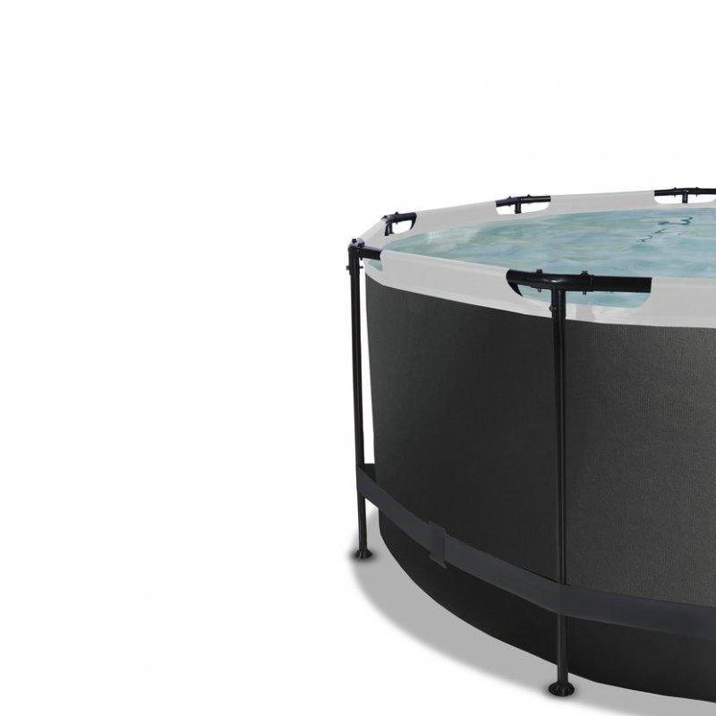 Bazén Exit ø360 x 122 cm s pískovou filtrací - barva černá, kůže