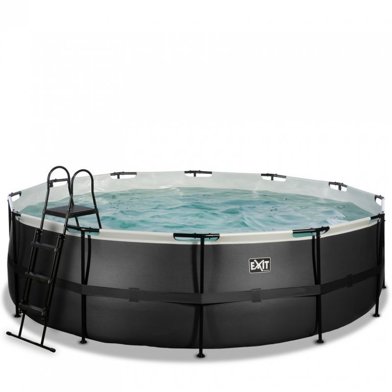 Bazén Exit ø488 x 122 cm s pískovou filtrací - barva černá, kůže