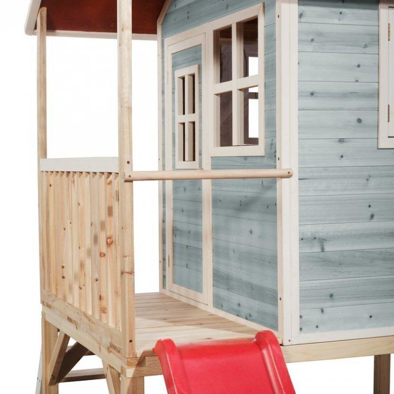 Zahradní cedrový domeček Exit Loft 300 modrý
