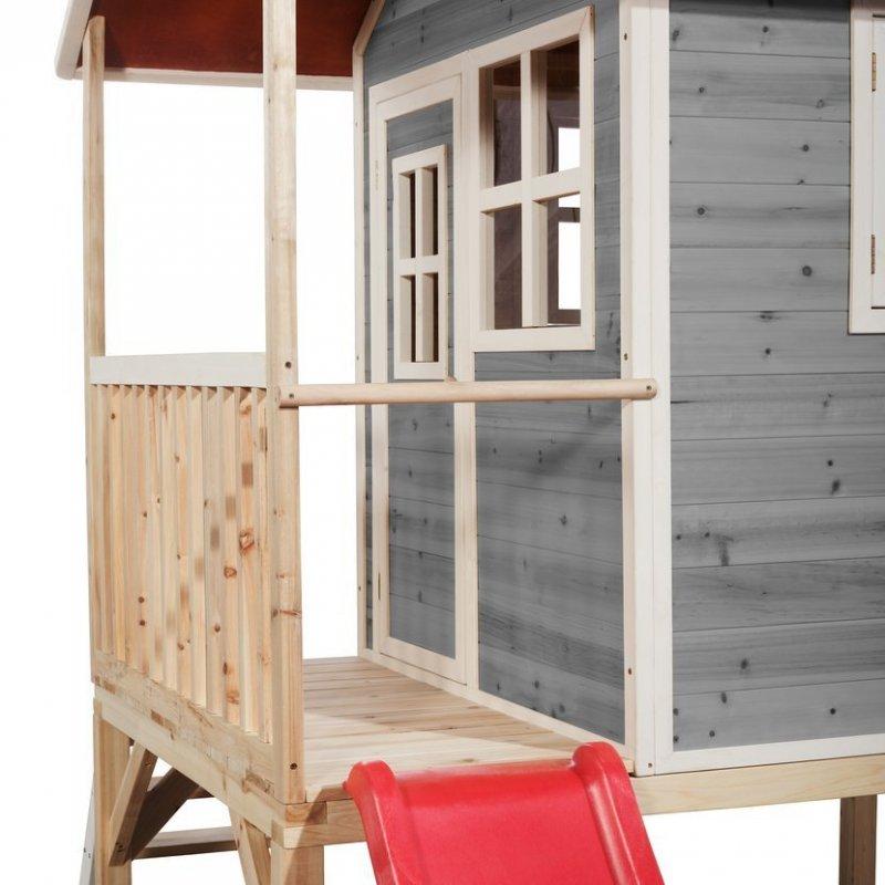 Zahradní cedrový domeček Exit Loft 300 šedý
