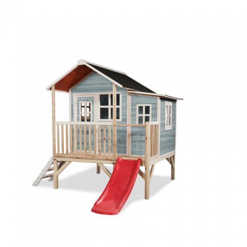 Zahradní cedrový domeček Exit Loft 350 modrý