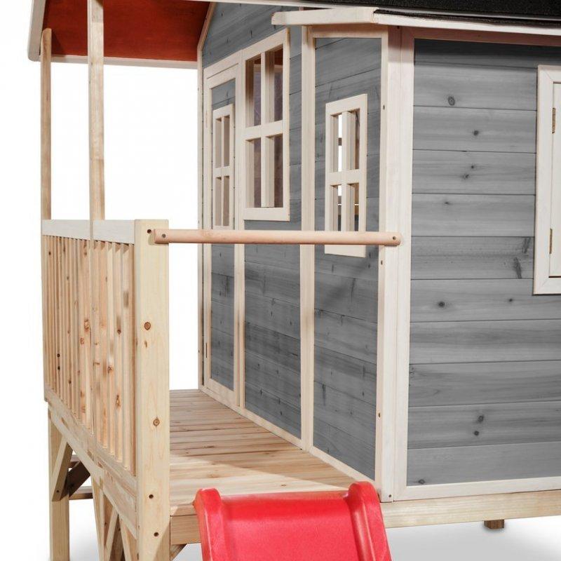 Zahradní cedrový domeček Exit Loft 350 šedý