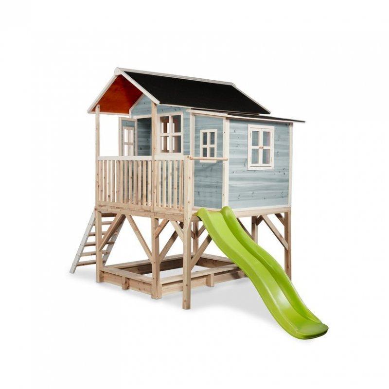 Zahradní cedrový domeček Exit Loft 550 modrý
