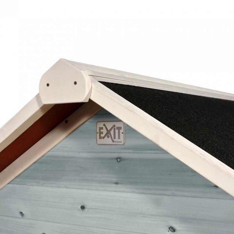 Zahradní cedrový domeček Exit Loft 500 modrý