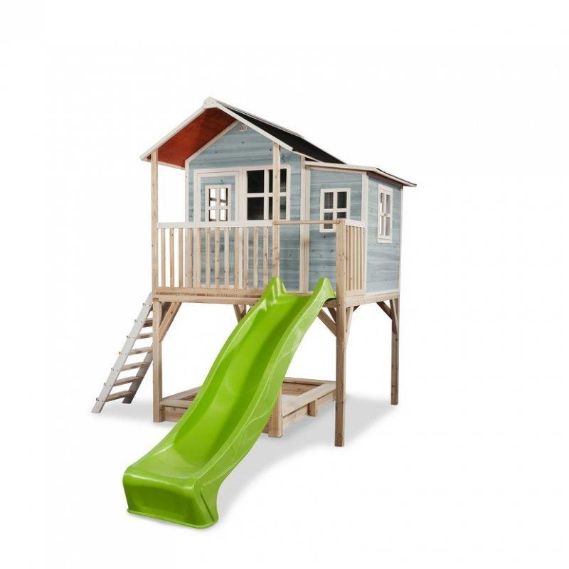 Zahradní cedrový domeček Exit Loft 750 modrý