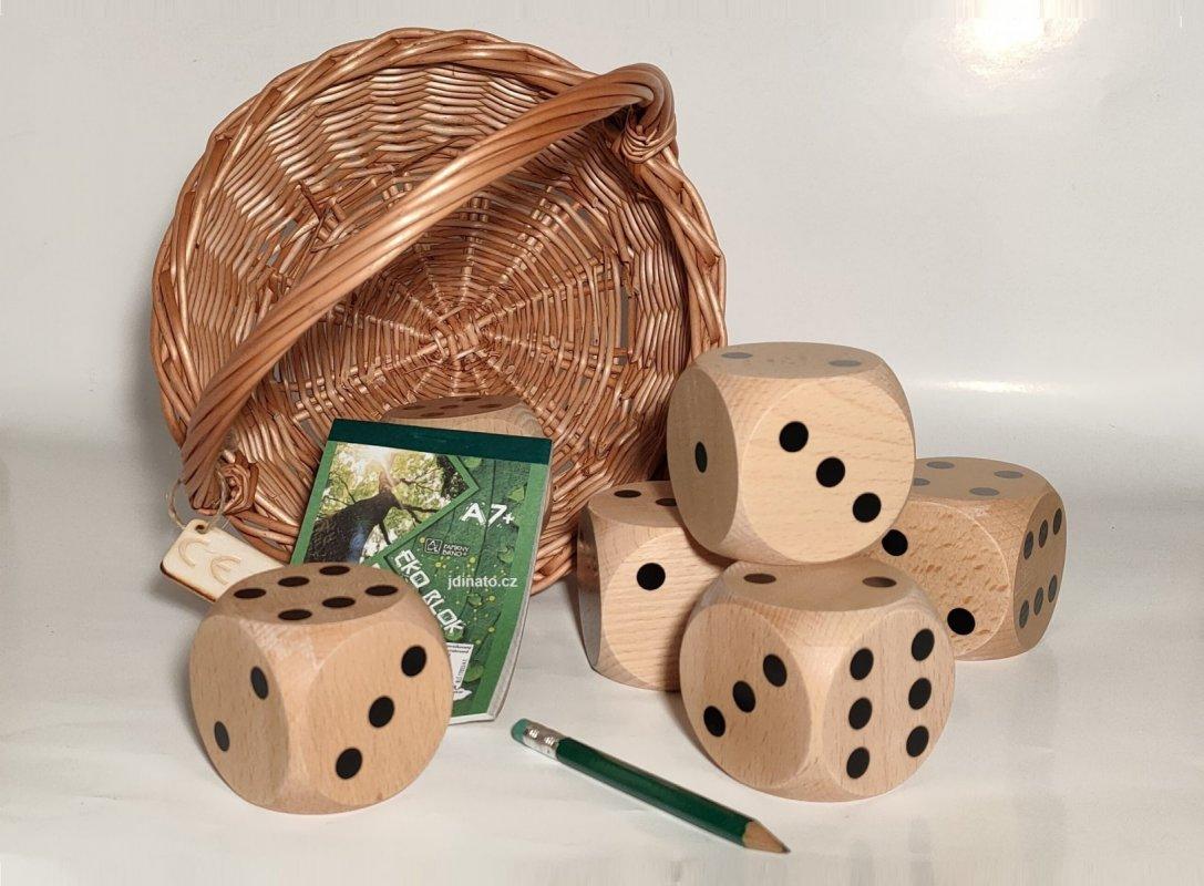 Hra dřevěné kostky pro děti