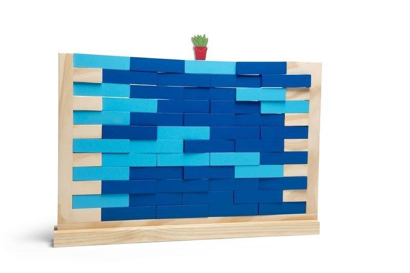STĚNA A VĚŽ Jenga dřevěná hra 2 v 1