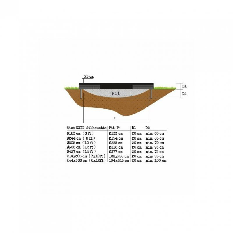 Přízemní trampolína Exit Silhouette Ground 244 cm s ochrannou sítí