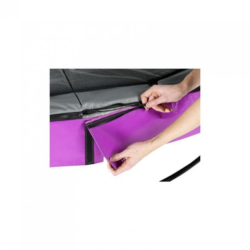Trampolína EXIT Elegant Premium se sítí Deluxe 253 cm Fialová