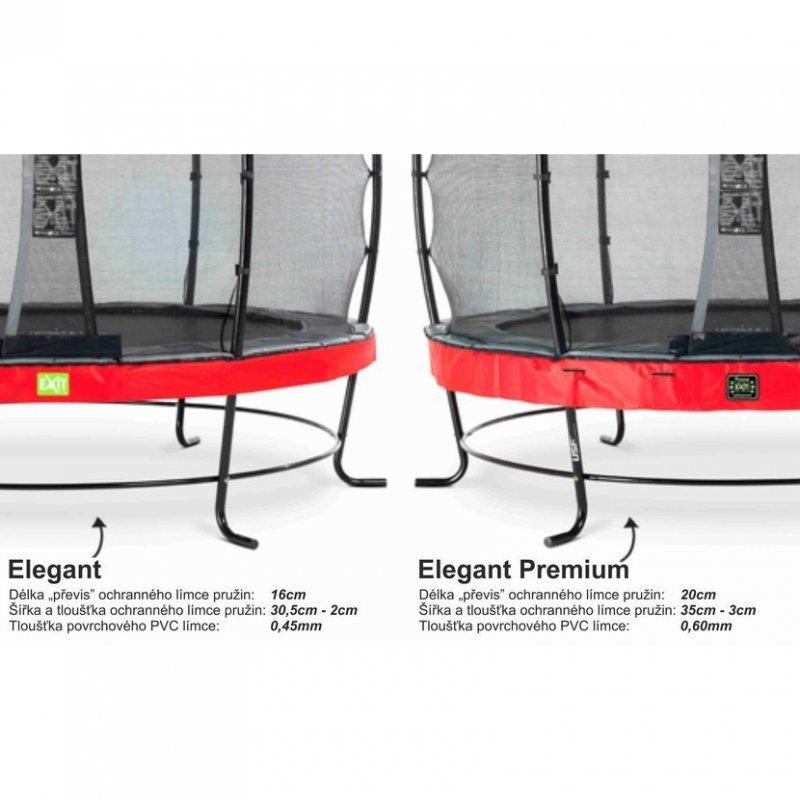 Trampolína EXIT Elegant Premium se sítí Deluxe 427 cm Černá