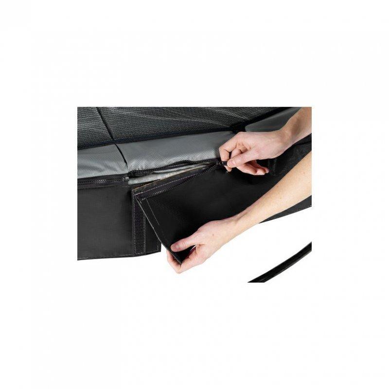 Trampolína EXIT Elegant Premium se sítí Deluxe 366 cm Černá