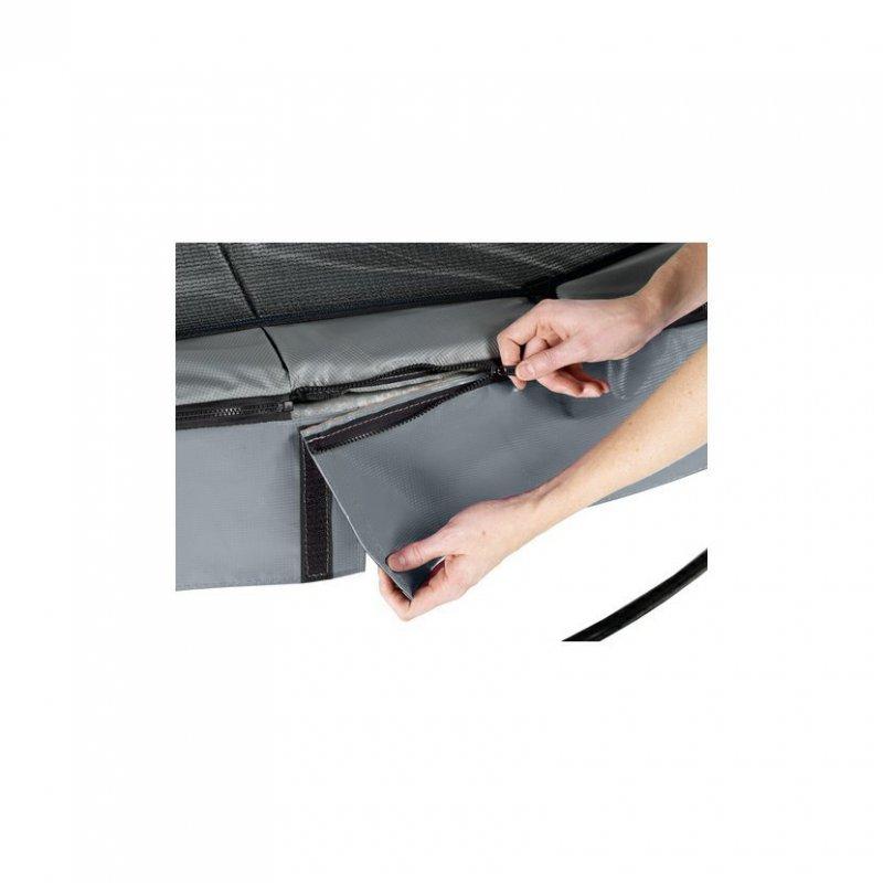 Trampolína EXIT Elegant Premium se sítí Deluxe 214 x 366 cm Šedá