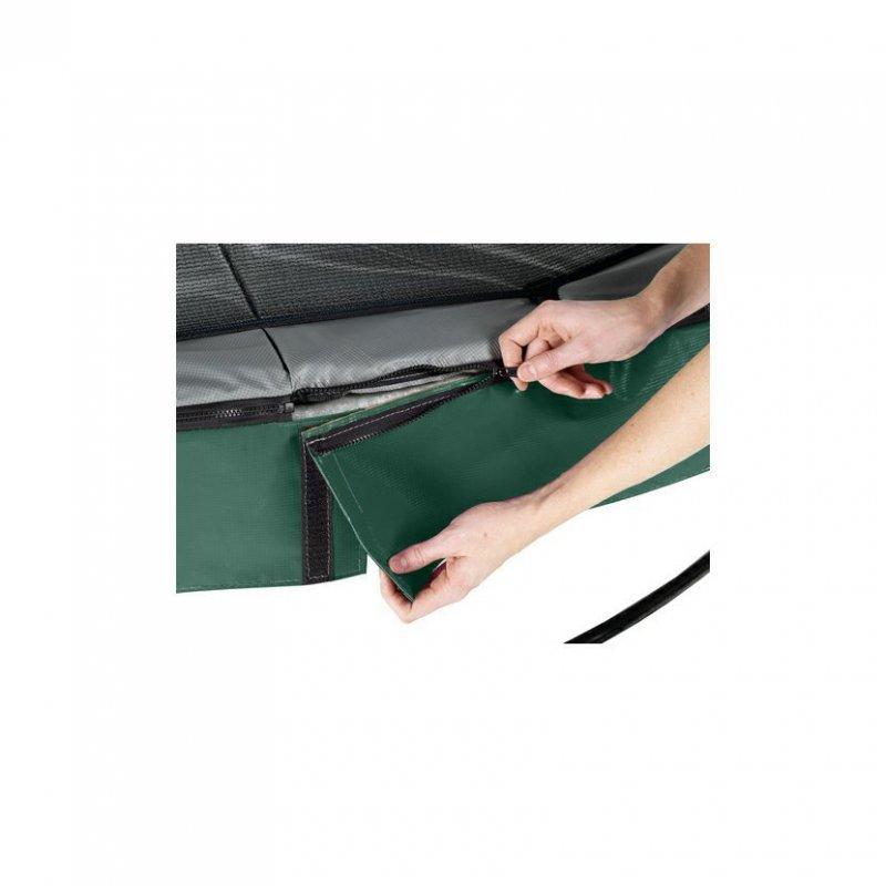 Trampolína EXIT Elegant se sítí Economy 253 cm Zelená