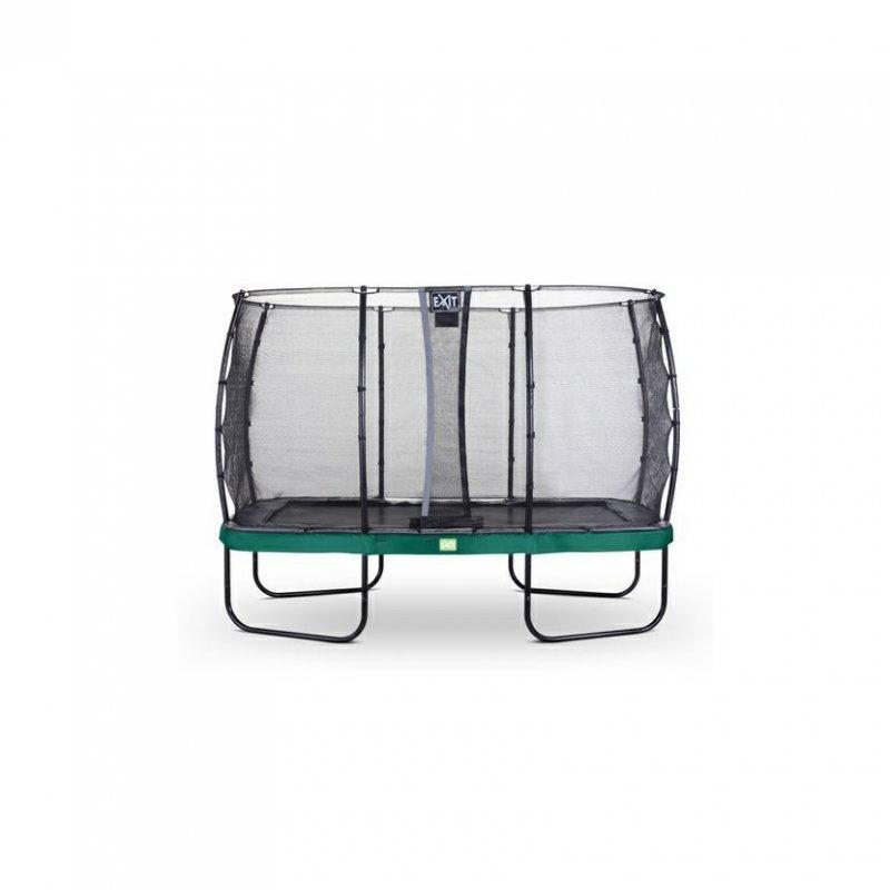 Trampolína EXIT Elegant se sítí Economy 214 x 366 cm Zelená