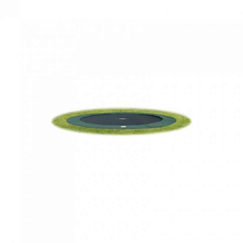 Trampolína EXIT InTerra Ground Level 305 cm - zelená