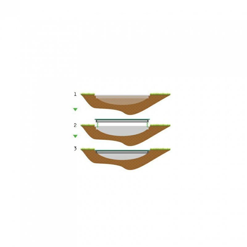Trampolína EXIT InTerra Ground Level 214 x 366 cm Zelená