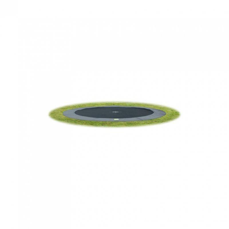 Trampolína EXIT InTerra Ground Level 305 cm - šedá