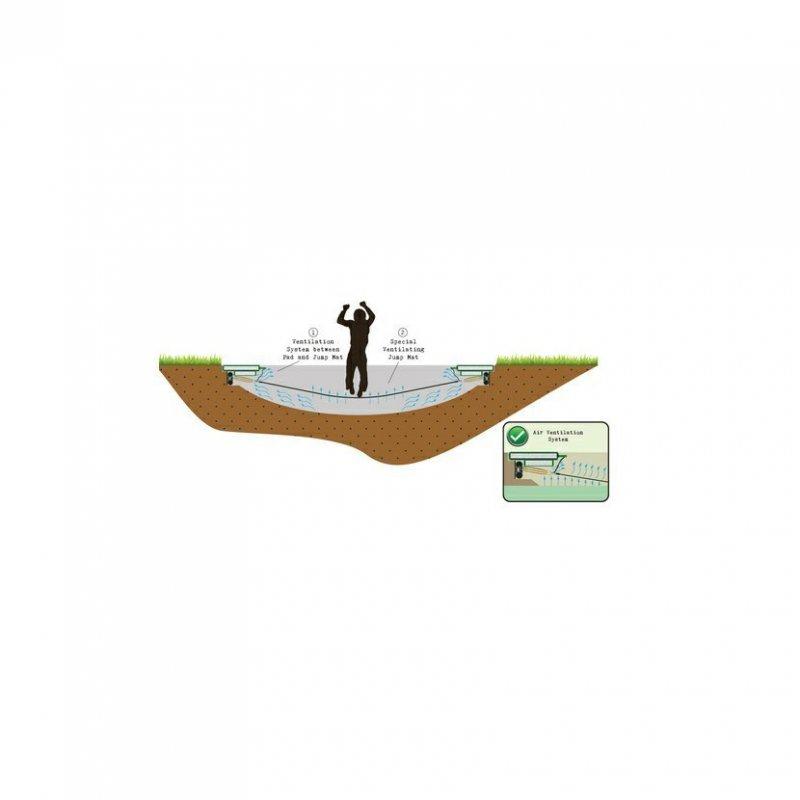 Trampolína EXIT Supreme Ground Level 305 cm Tyrkysová s ochrannou sítí