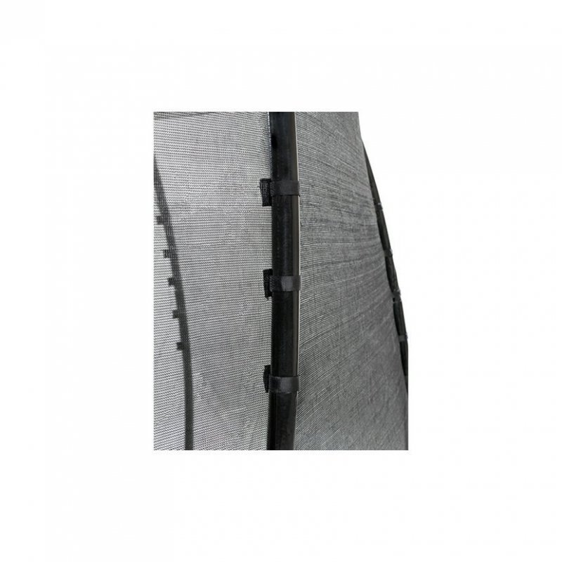 Trampolíny EXIT vyšší řadaTrampolína EXIT InTerra Ground Level 244 x 427 cm s ochrannou sítí Zelená
