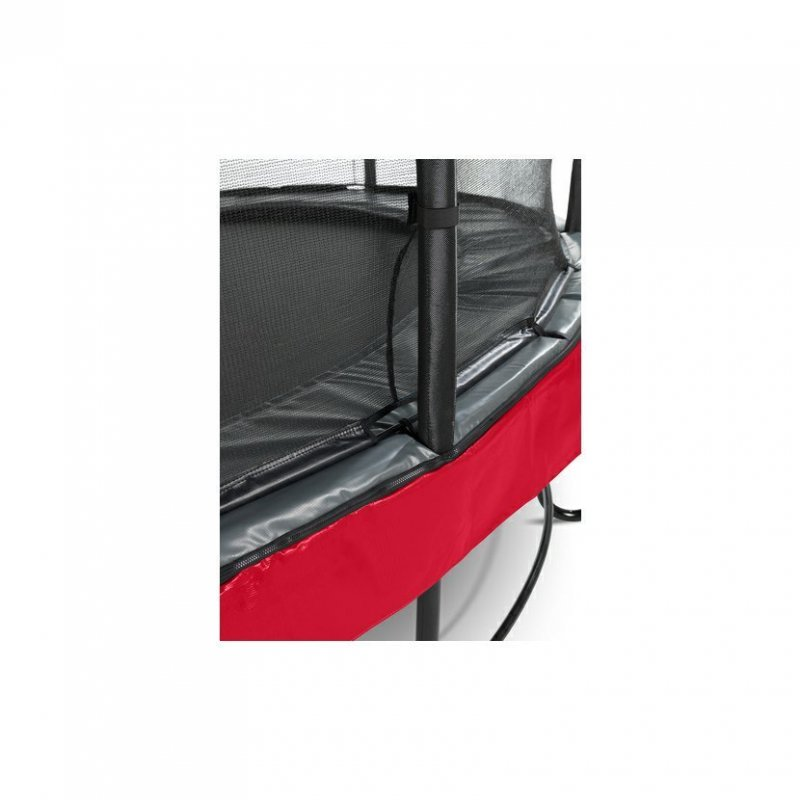 Trampolína EXIT Elegant Premium se sítí Deluxe 305 cm Červená