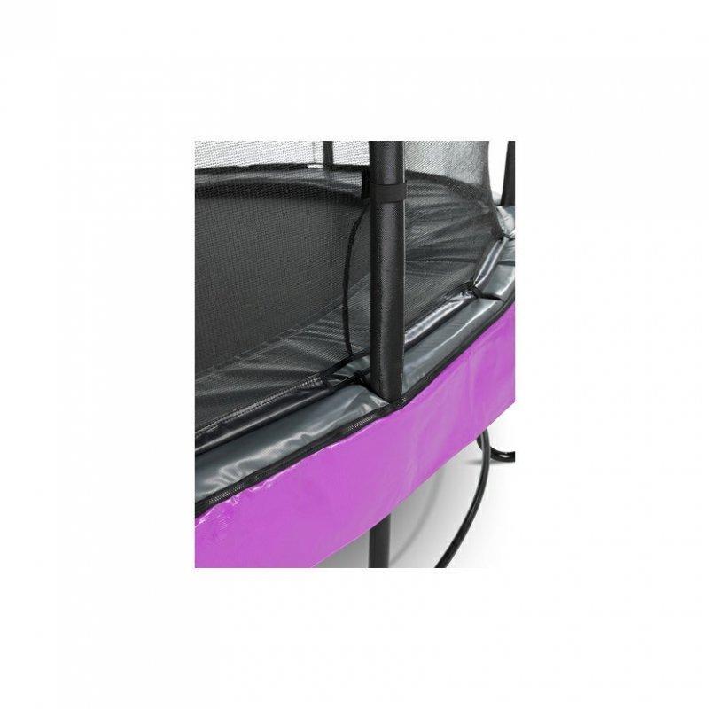 Trampolína EXIT Elegant Premium se sítí Deluxe 244 x 427 cm Fialová