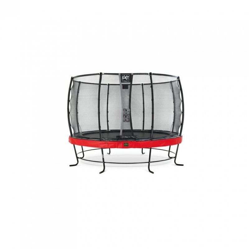 Trampolína EXIT Elegant Premium se sítí Deluxe 366 cm Červená