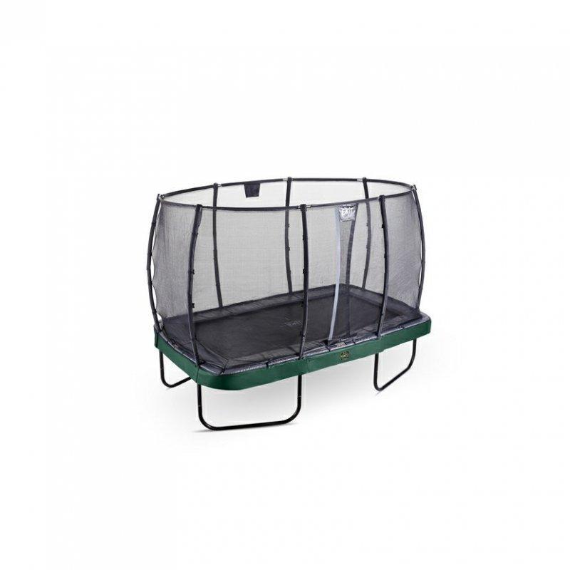 Trampolína EXIT Elegant Premium se sítí Deluxe 214 x 366 cm Zelená