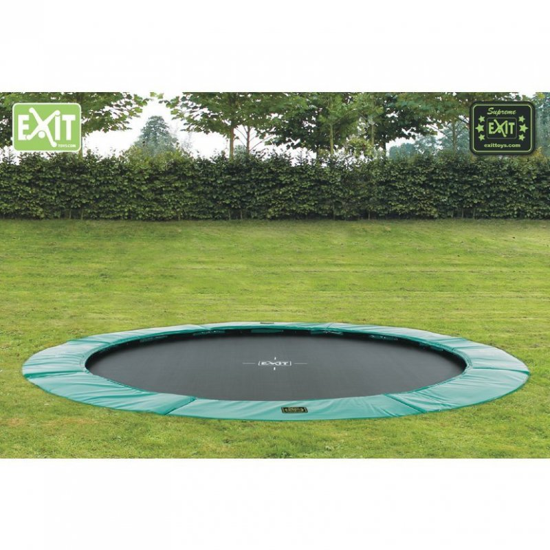 Trampolína EXIT Supreme Ground Level 366 cm Tyrkysová