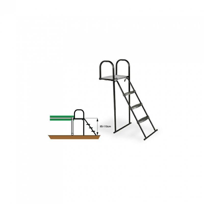 Žebřík k trampolíně Exit s plošinou XL 95 - 110 cm