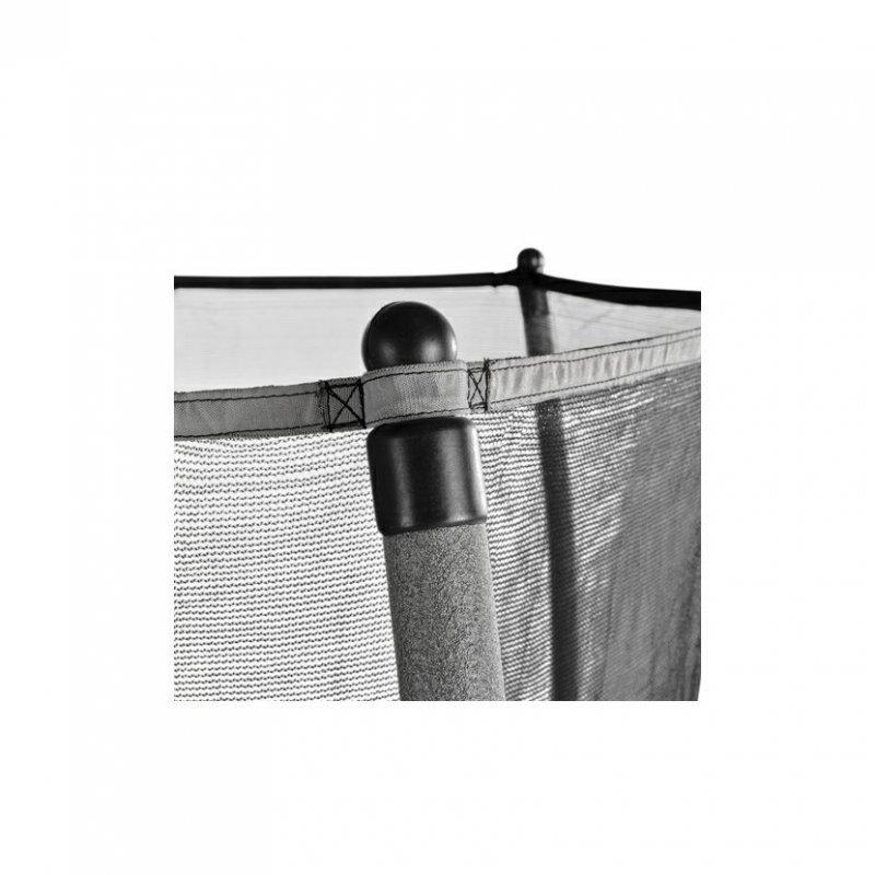 Trampolína Exit Tiggy Junior 140 cm s ochrannou sítí černo/šedá