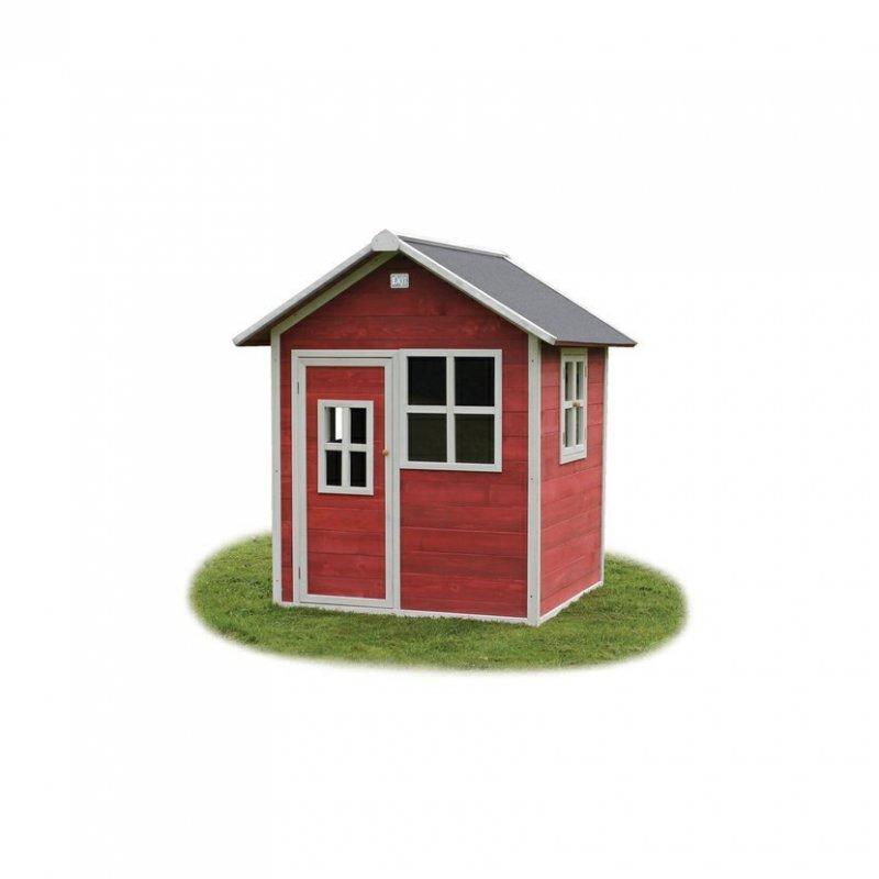 Zahradní cedrový domeček Exit Loft 100 červený