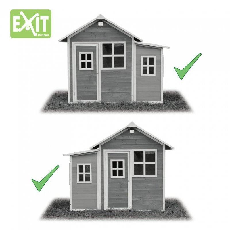 Zahradní cedrový domeček Exit Loft 150 modrý
