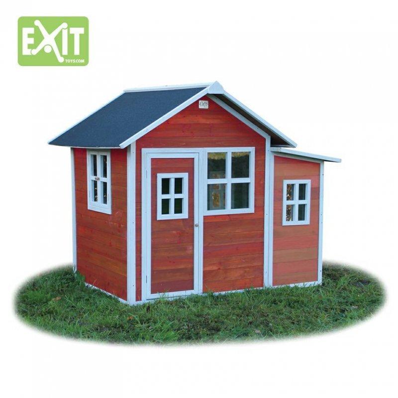 Zahradní cedrový domeček Exit Loft 150 červený