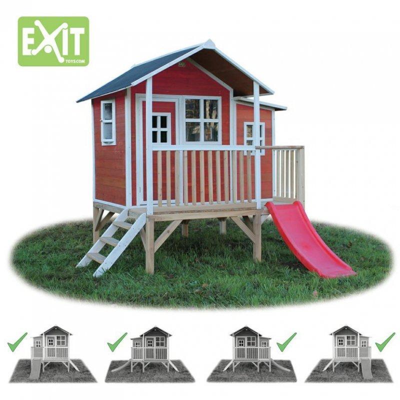 Zahradní cedrový domeček Exit Loft 350 červený