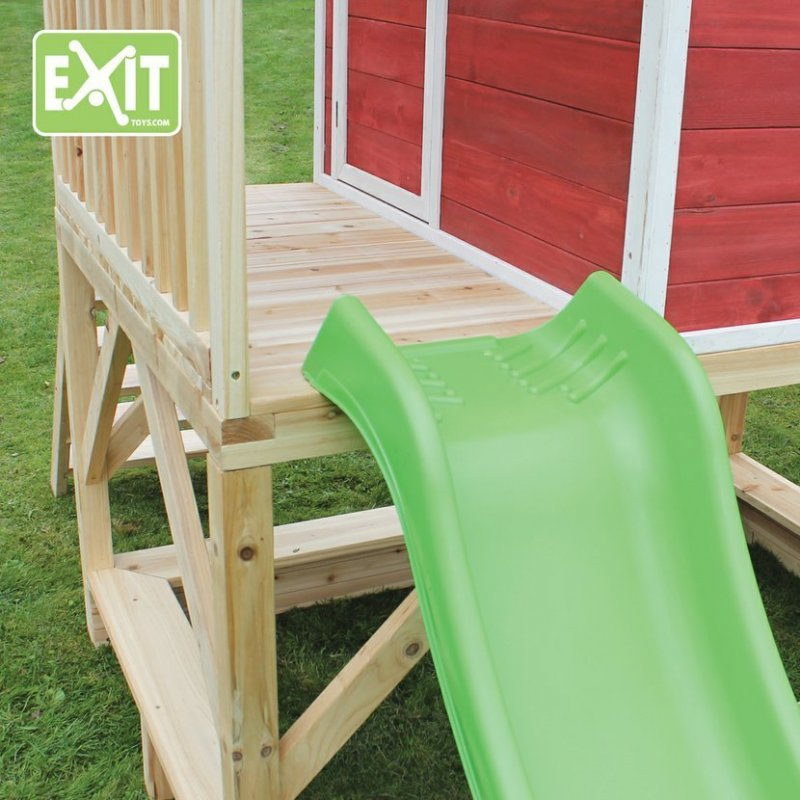 Zahradní cedrový domeček Exit Loft 500 červený