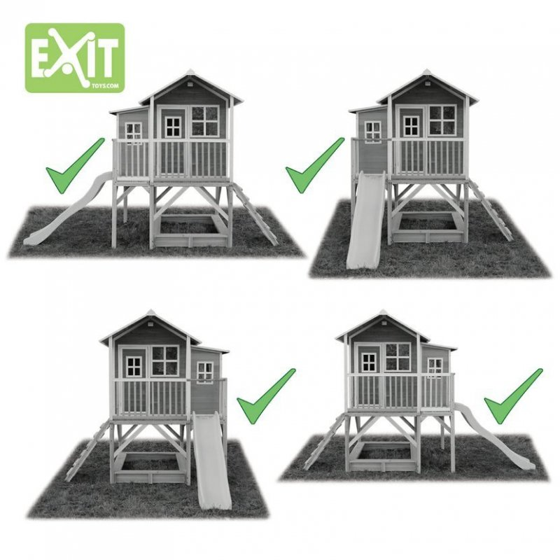Zahradní cedrový domeček Exit Loft 750 šedý