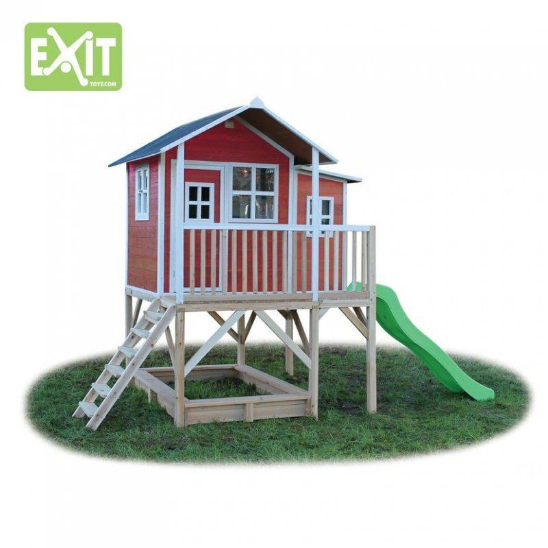 Zahradní cedrový domeček Exit Loft 550 červený